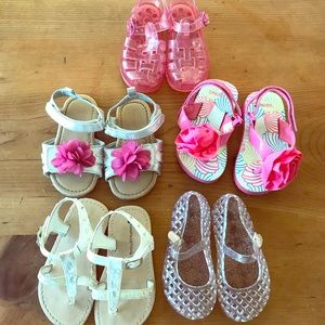 Size 6&7 little girls shoes bundle6 pairs of shoes